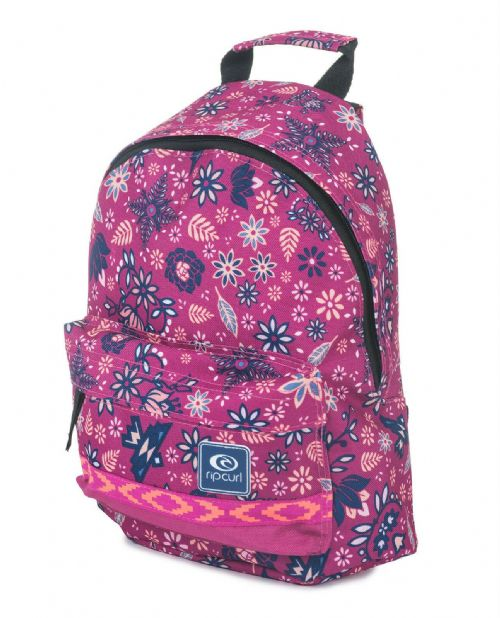 REDUCED.RIP CURL WOMENS GIRLS BACKPACK.MANDALA PINK DOUBLE DOME RUCKSACK BAG 7W